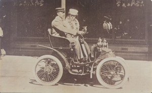"Mr & Mrs J Banfield,early settlers of Yoongarillup bought this ""Gladiator"" car at the Paris Exhibition for 200 pounds, including freight, exchange and insurance.This car had one cylinder, was a two seater and got 32 miles to the gallon @16 miles and hour!"