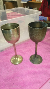 before and after restoration of goblets